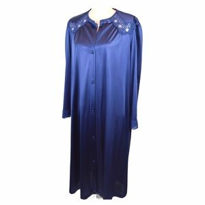 Vintage Vanity Fair Antron Button Front Robe Lg.